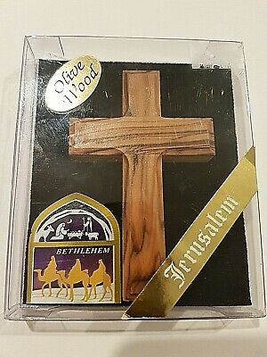 Crucifix Cross Olive Wood from Holy Land Made in Jerusalem Handmade
