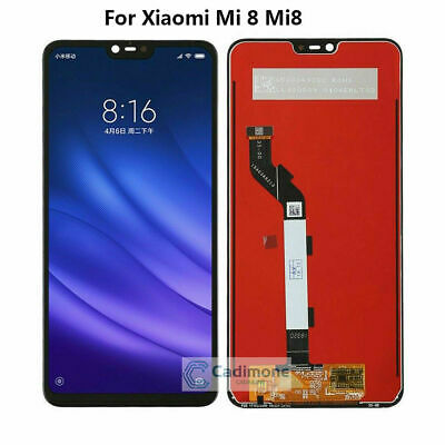 "6.21""Black LCD Display For Xiaomi Mi8 Mi 8 Touch Screen Digitizer Glass Assembly"