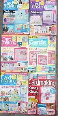 Simply Card Making & Papercraft 6 Magazines Early Editions Christmas Job Lot
