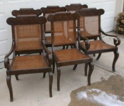 Set of 6 Ralph Lauren Cane Dining Room Chairs