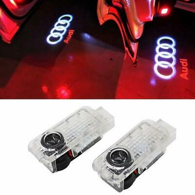2x Ghost LED Door Step Courtesy Shadow Laser Light Clean New Logo fit Audi