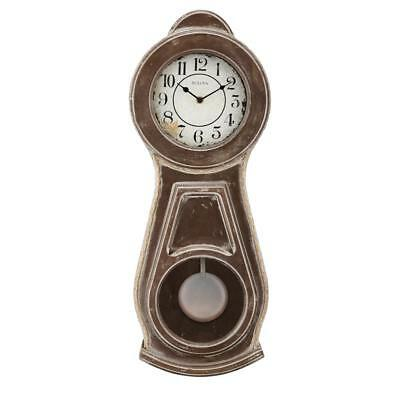 *BRAND NEW* Bulova Pendulum Aged Rubbed Finish Natural Brown Undert  Clock C1518
