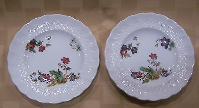 "2 Copeland Spode Wicker Lane Basket Weave Small 5.5"" Bread and Butter Plates"