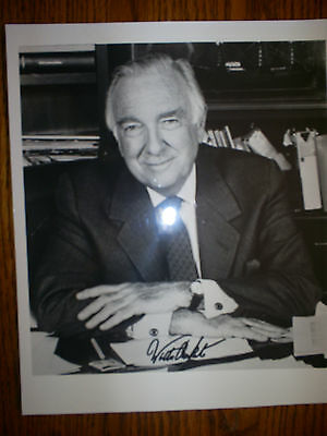 Walter Cronkite  8X10  Autographed Photo.
