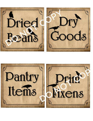 Primitive Vintage Style Can or Box Labels #FH462