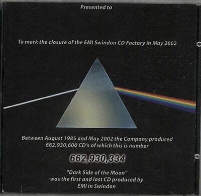 Pink Floyd Dark Side Of The Moon - The First And Last UK CD album (CDLP)