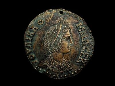 Large Terracotta Plaque,Replica,Depicting One Of The Rarest Coins Of Julia Domna