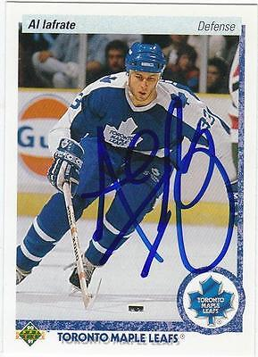 AL IAFRATE Autographed Signed 1990-91 Upper Deck card Toronto Maple Leafs COA