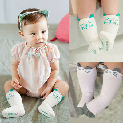 Baby Toddler Infant Kids Girls Cat Cotton Print Warm Socks Stockings Tights Cute