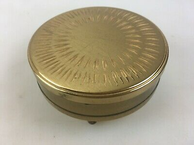 Vintage Trinket Box Three Legs Gold Coloured - Made In England By Margaret Rose
