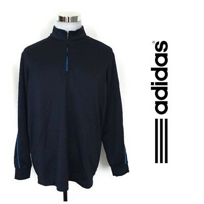 0485f66f77ee Adidas Climalite 1 4 Zip Jacket Men s XL Athletic Running Training Pullover  Gym