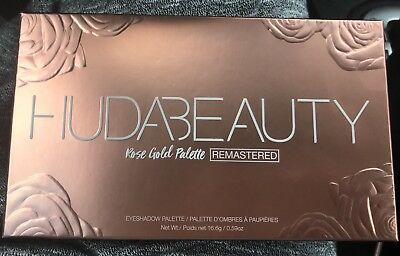 100% Authentic Huda Beauty New Remastered Rose Gold Eye Shadow Palette Nib