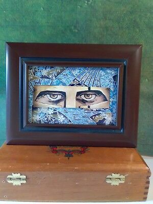 Eyes of Sparta - Mixed Media Art - Japanese Washi Paper and other paper arts