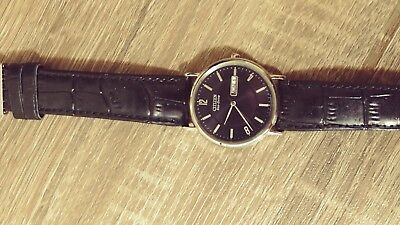 Men's Citizen Eco-Drive BM8240-03E Wrist Watch black dial black leather strap