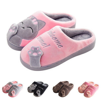 91064efee9c Cute Cozy Cat Paw Slippers Women Home Warm Winter Slippers Indoor House  Shoes