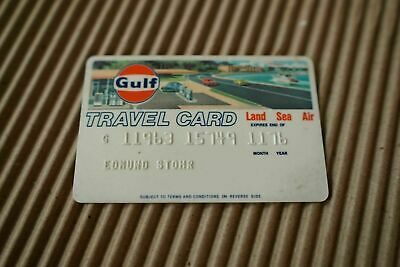 Vintage 1970s GULF OIL CORPORATION TRAVEL CREDIT CARD charge/gas/station 70s