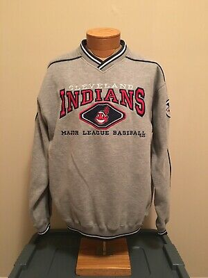 7cae89e5 Vintage 90s Lee Sport Cleveland Indians Embroidered Sweatshirt L Chief Wahoo