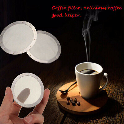 2x Coffee Filter Reusable Stainless Steel 250 Mesh For Aeropress Coffee Maker~