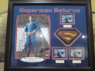 Brandon Routh signed Frame Superman Returns autograph PSA/DNA Topps Costume card