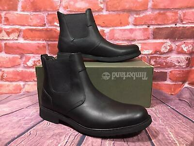 1105555c541050 TIMBERLAND MENS STORMBUCK Chelsea Boots Black Size 10.5 Style 5551R ...