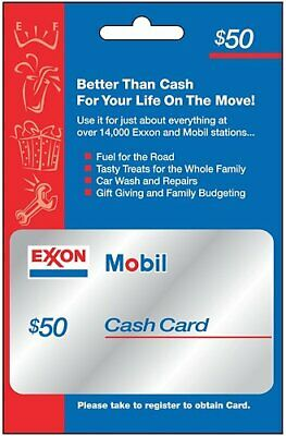 $25 / $50 ExxonMobil Physical Gift Card - FREE 1st Class Mail Delivery - Sealed