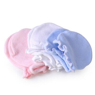 3pairs Newborn Boy Girl Infant Soft Cotton Handguard Anti Scratch Mittens Glove