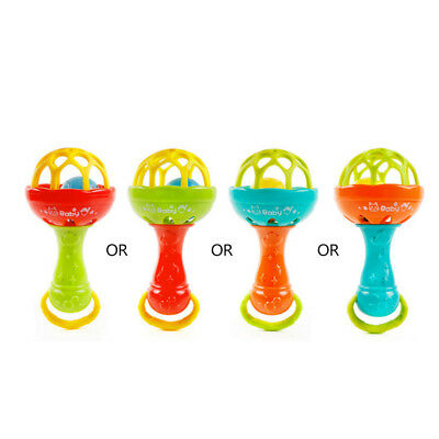 Baby Hand Bell Shaker Sound Grasp Teether Ball Finger Flexibility Exercise Toy
