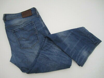 02233bcd74a Mens 40x32 Diesel Zathan Regular Bootcut Stretch blue button fly jeans