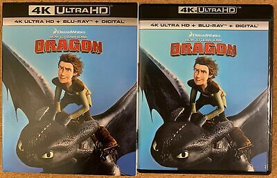 How To Train Your Dragon 4K Ultra Hd Blu Ray 2 Disc Set + Slipcover Sleeve