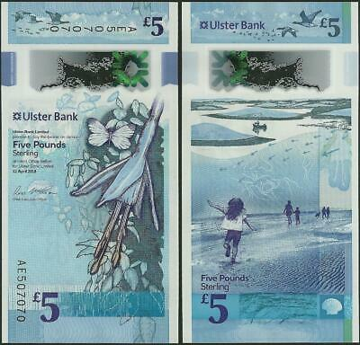 Northern Ireland,5 Pounds,Ulster Bank,UNC,2019,Polymer, vertical banknote,B939