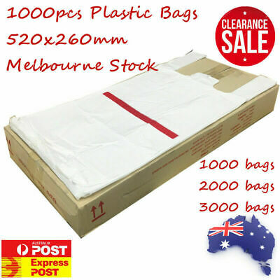 Plastic Singlet Grocery Shopping Checkout Bags Top Quality Melbourne Unbranded