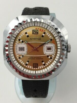 Mécanique Mechanical Sport Avystyle De 1970s Montre Vintage Watch gYbyvf67