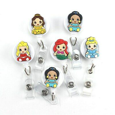 Cute Cartoon Girl Retractable Badge Reel  Exhibition Pull Key Card Holder