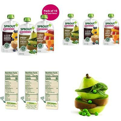 Sprout Organic Baby Food Pouches Stage 2 Sprout Organic Baby Food Variety Pack (