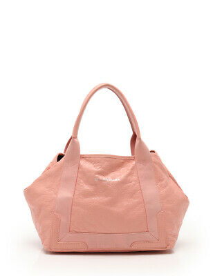 3d0ae4ed930 BALENCIAGA NAVY CABAS S 339933 Women's Leather Tote Bag Pink ...