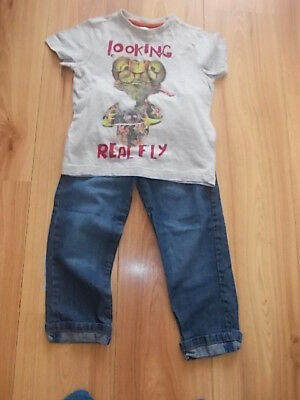 Boys Jeans & T-shirt Set Age 3-4 Years