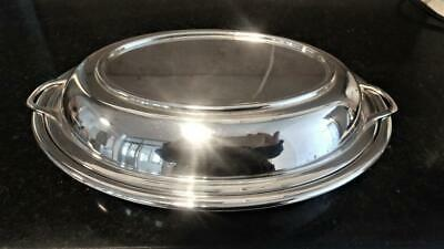 Antique Two Handled Walker & Hall Oval Silver Plated Entree Dish C 1910