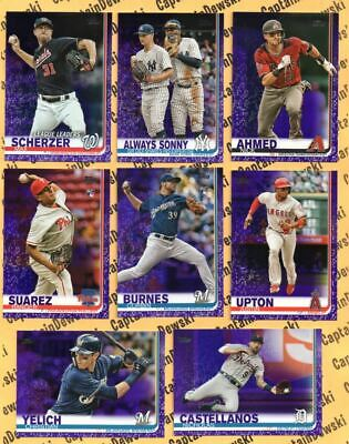 2019 Topps PURPLE SP Toys R Us / Meijer Paper Parallel Cards! U PICK! RARE! 🔥⚾️