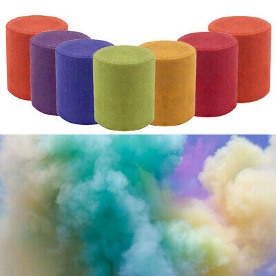 3x Photography Aid Props Smoke Cake Colorful Effect Show Round Bomb Stage Tools