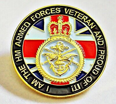 H M Armed Forces Veteran Pin Badge I'm A Uk Veteran And Proud Of It, Union Jack
