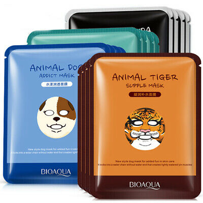 Animal Essence Natural Face Mask Sheet Pack Korea Cosmetic Facial Skin Care