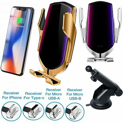 Automatic Auto Wireless Car Charger Supporto Caricabatterie Per iPhone Samsung