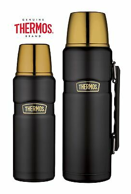 Thermos King Flask Vacuum Insulated 470ml/1.2L Black & Gold