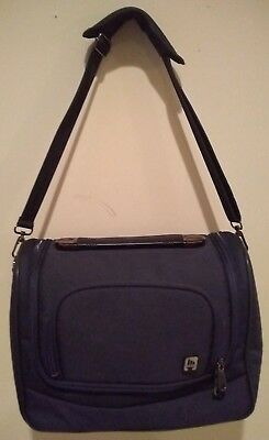 Olympia Nylon Blue Carry On All Travel Overnight Weekender Bag Shoulder Strap
