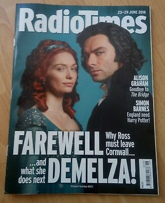Radio Times - 23-29 June 2018 - Wales Edition - Poldark - Back Issue