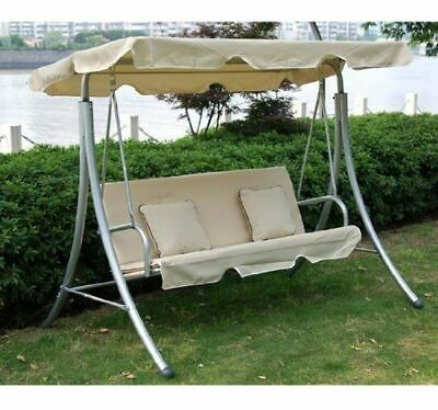 Outsunny Garden 3 Seater Swing Chair Hammock Seat Bench +2 Free Cushions