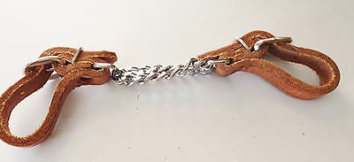 Generic harness Leather double chain horse curb strap, western tack