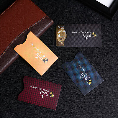 Bank Credit Cards RFID Blocking Sleeve Wallet Card Holder Protect Case Cover