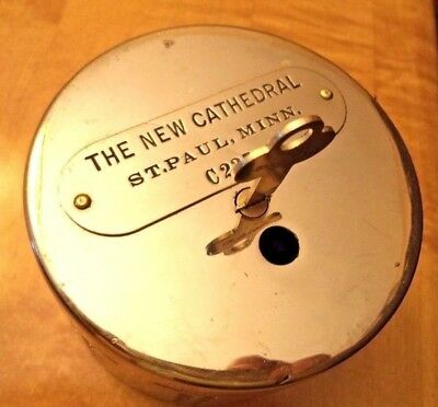Antique Round Recording Bank The New Cathedral of Saint Paul, MINN. 1 KEY # C235