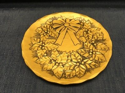 Wendell August Solid Bronze Wreath Coaster/Plate